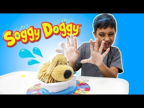 Jogos de meninas - Gustavo Joga o Jogo Cachorrinho tomando Banho (Soggy Doggy) Meninos Vs Menina!!!