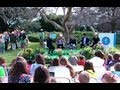 "2013 White House Easter Egg Roll: The Wanted Reads ""Caps for Sale"""