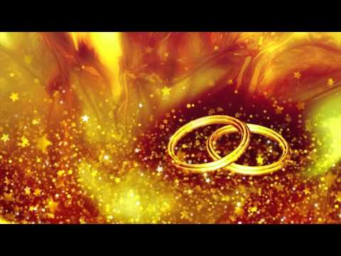 Wedding Rings Video Background-Cool Stars Flying Animation