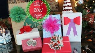These easy bow tutorials will make your life simple -- come check them out!  I'll show you how to make a classic ribbon bow, 3D paper bow, yarn pom-pom bow & rose-shaped bow.Happy Holidays! Thanks for watching :)Please check out this YouTube page: https://www.youtube.com/user/TheDivaSpot101 (beautiful home decor & more!)Follow me on Instagram: http://instagram.com/simply_preet/