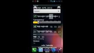 Julls' Calendar Widget Lite YouTube video