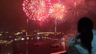 Chinese New Year fireworks 2012, GuangZhou 广州