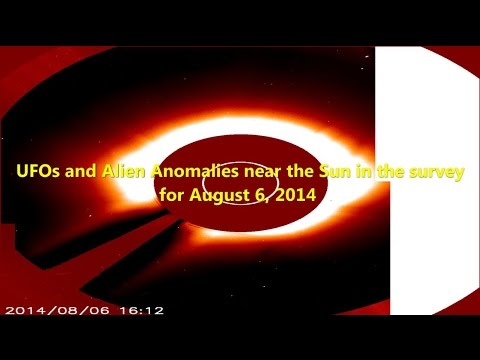 UFOs and Alien Anomalies near the Sun in the survey for August 6, 2014