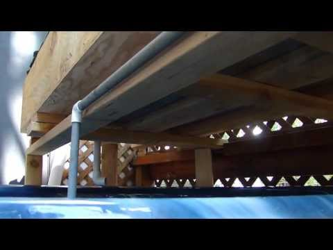 Aquaponics system DIY home build fish plants and greenhouse project
