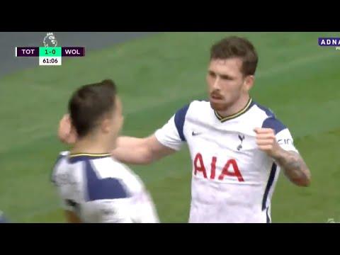 HOJBJERG GOAL!! Tottenham 2-0 Wolves [GOAL HIGHLIGHT]