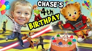 Chase's 4th Birthday Party Adventure!  Never Ending Fun w/ Daniel Tiger Pinata (FUNnel Vision Vlog)