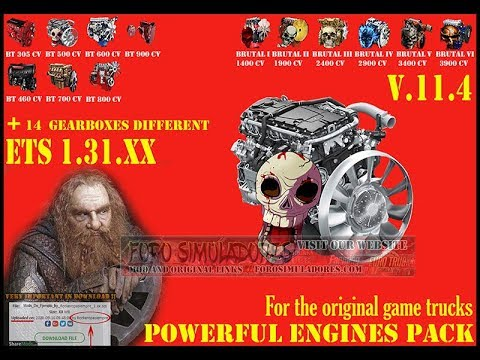 Pack Powerful engines + gearboxes v11.4 for 1.31.x