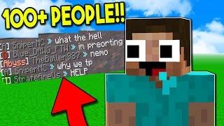 Minecraft Trolling - TROLLING THE ENTIRE SERVER! (100+ PEOPLE) (Minecraft Trolling)