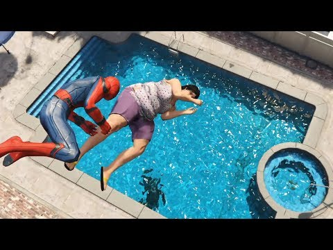 GTA 5 Water Ragdolls | SPIDERMAN Jumps/Fails Ep.27 (Euphoria physics | Funny Moments)