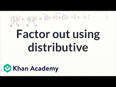 Factor With The Distributive Property Video Khan Academy