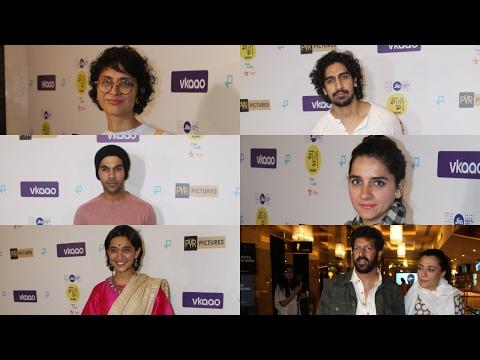 Kiran Rao, Kabir khan, Raj Kumar Yadav At The Premiere Of Award Winning Film Moonlight