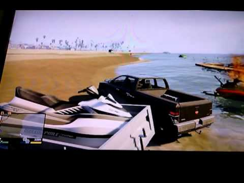 Gta 5 how to load a jet ski on trailer