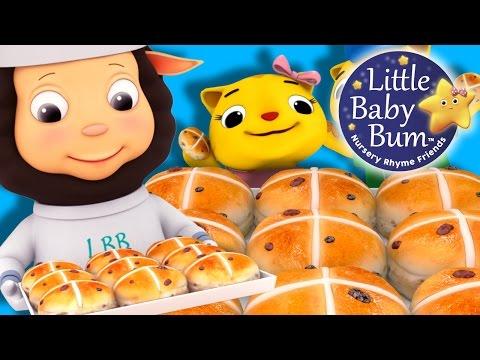 Hot Cross Buns | Nursery Rhymes | by LittleBabyBum!