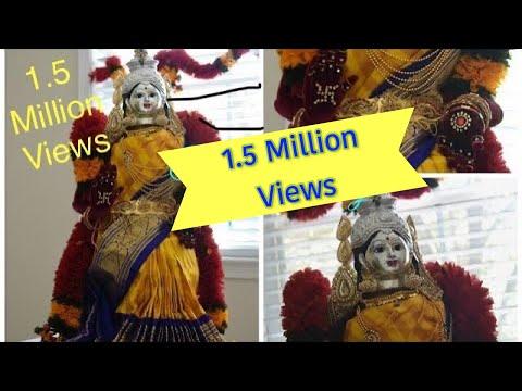 Video Varamahalakshmi Alankar | Saree Draping |VaraLakshmi Vratham idol Preparation download in MP3, 3GP, MP4, WEBM, AVI, FLV January 2017