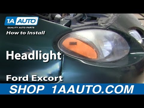 How To Install Replace Change Headlight 1998-03 Ford Excort ZX2 Coupe
