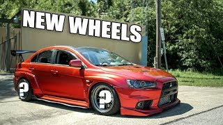 NEW WHEELS FOR THE EVO X! by Evan Shanks