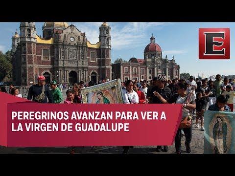 Peregrinos se dirigen a dar gracias a la Virgen de Guadalupe