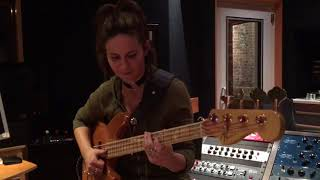 Angeline Saris - Sneak Preview of Top Down slap bass line off ANGELEX album