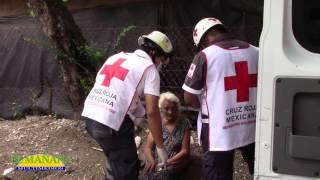 Mujer lesionada en caída; Col  Guadalupe de Cd Valles