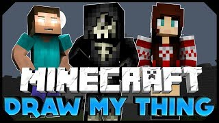 "Minecraft: DRAW MY THING | ""DAT DRAWING"" W/ AciDic BliTzz, Ashley,&Taz! (Mini-Game)"