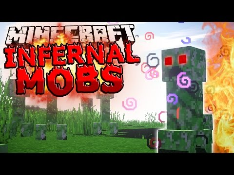 Minecraft Mods: INFERNAL MOBS - Custom Enchantments, More Experience, Better Loot!! (Mod Showcase)