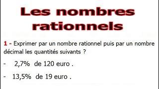 Maths 3ème - Les nombres rationnels Exercice 13