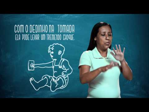 Campanha de Uso Racional de Energia - Libras - Criança e Tomada  - Eletrobras Distribuição Rondônia