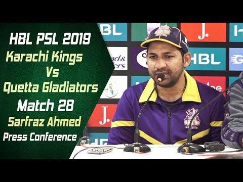 Match 28 - Post Match Press Conference: Karachi Kings Vs Quetta Gladiators | Sarfraz Ahmed - Thời lượng: 4 phút, 53 giây.