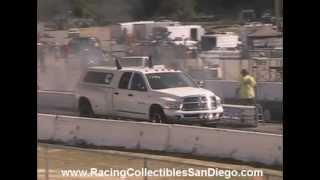 Dodge Cummins Diesel Drag Racing Barona Drag Strip 2-16-2013
