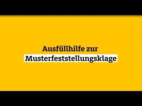 Anleitung: Ausfüllhilfe zur Musterfeststellungsklage |  ...