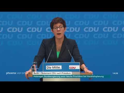 Pressekonferenz der CDU mit Annegret Kramp-Karrenba ...