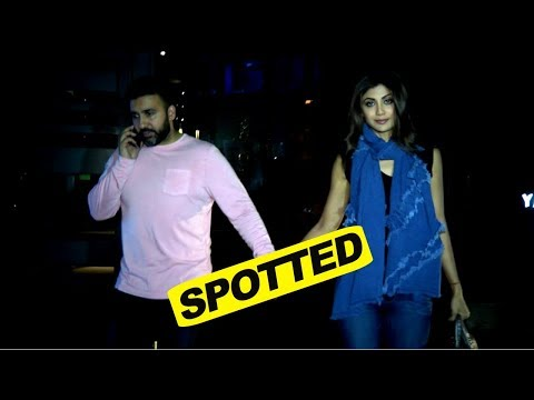 Shilpa Shetty With Hubby Raj Kundra Spotted After Dinner At Yauatcha Mumbai