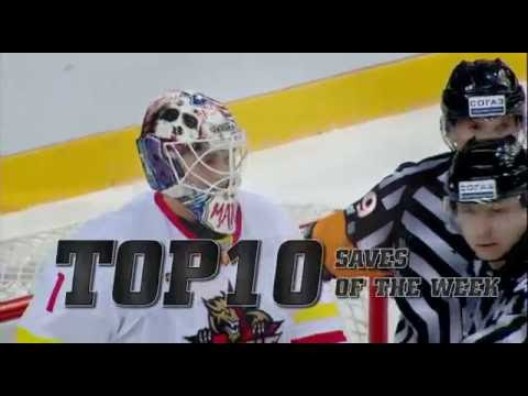 KHL Top 10 Saves for Week 6 (видео)