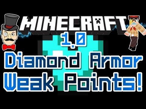 Minecraft DIAMOND ARMOR Weak Points ! How to Defeat a Diamond Warrior !