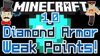 Minecraft DIAMOND ARMOR Weak Points ! How to Defeat a Diamond Warrior !