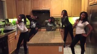 Girls got creative and made up dance in my kitchen ....gotta luv'em