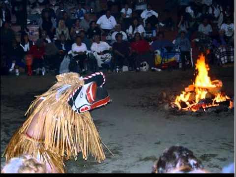 Still image from Kwakwaka'wakw: Initiation of a Hamat'sa Dancer at a Potlatch