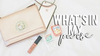 OPEN FOR MORE INFO ♡Hey guys! Today's video is a what's in my purse! I really love the color and size and EVERYTHING about this purse! I don't carry much so..I hope you guys enjoy this video! Plenty more videos to come (:xo Mi+SUBSCRIBE - http://bit.ly/1m5FKNh+WATCH - Try-On Summer Clothing Haul: https://www.youtube.com/watch?v=_RWGkeKOVFU&t=21s+WATCH - iPhone 6s Rose Gold Unboxing: https://www.youtube.com/watch?v=HXnslo87BIs&t=5sp.s. this video isn't sponsored at all!ʚ MUSIC USED ɞ+Longing - Joakim Karud+All rights go to respective artists/owners. No copyright intended. ʚ SOCIAL MEDIA ɞ+Instagram: @maybemiyt+Twitter: @maybemiyt+Snapchat: @singingfood+For business inquiries, email me at maybemiyt@gmail.comʚ F.A.Q ɞ+Camera: Canon Rebel t5i/700d+Lens: Canon EF 50mm f/1.4+Editor: Adobe Premiere Pro CCI hope your day is as lovely as you!