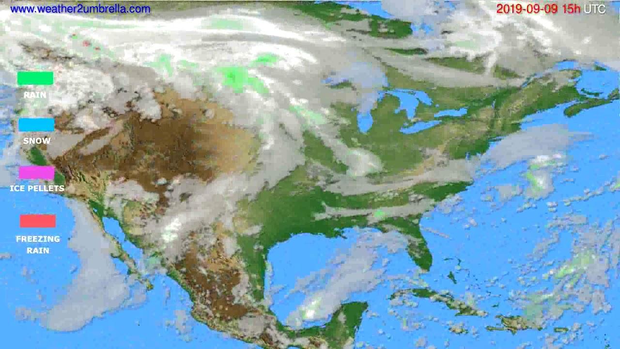 Precipitation forecast USA & Canada // modelrun: 12h UTC 2019-09-06