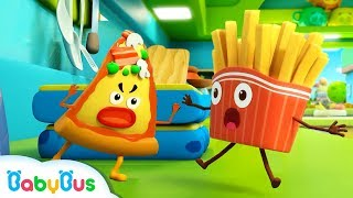 Video French Fries vs Naughty Pizza | Ice Cream, Learn Colors | Kids Songs | Kids Cartoon | BabyBus MP3, 3GP, MP4, WEBM, AVI, FLV Juli 2019
