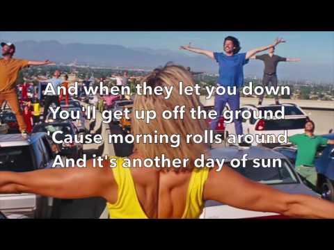 , title : 'La La Land - Another Day of Sun (Lyrics)'