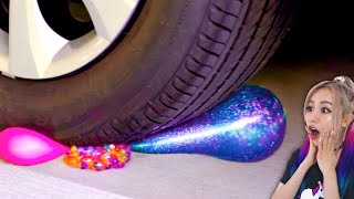 Crushing Crunchy and Soft Things By Car! Slime, Squishy And More by The Wonderful World of Wengie