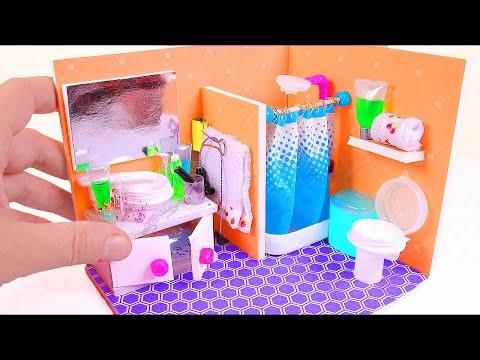 DIY Miniature Dollhouse Toilet (Part II) (видео)
