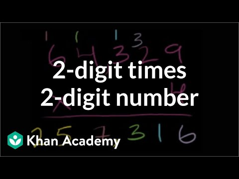 Multiplying 2 Digit By 2 Digit 36x23 Video Khan Academy
