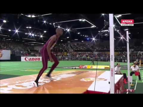 Mutaz Barshim 2.29 ( World indoor championship. Men's high jump final. Portland 19.03.2016 )