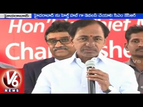 CM KCR launched Sunshine Super Specialty Institute at Hitech City 01032015