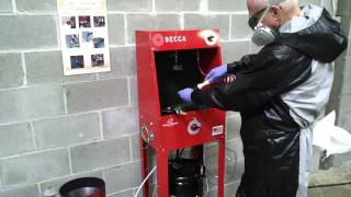S50M Solvent Spray Gun Cleaner – Operation