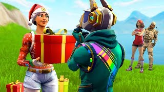 I gifted my whole Fortnite clan new skins...