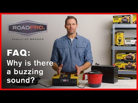 Power Inverter FAQ #8 - Why is there a buzzing sound coming from the inverter?