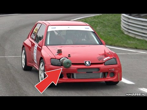 500hp Turbo Peugeot 106 Monster! - Loud Turbo Wastegate & Flames!